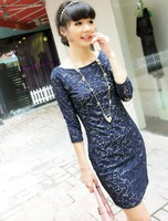 2013 fashion spring fashion elegant fashion women's kate lace one-piece dress free shipping