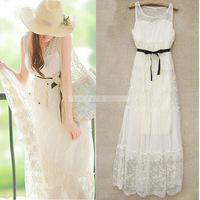 2014 New fashion women's sexy Lace long dress, fairy princess dress,Bohemian dress