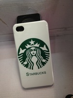 STARBUCKS Coffee girl Hard plastic hard case for iphone 4 4g 4S 4th cellphone Iphone4 back cover skin