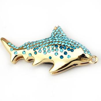 4gb doradus blue crystal usb flash drive personalized necklace usb flash drive male birthday gift usb flash drive