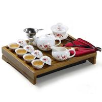 66 kung fu tea set tea set solid wood tea tray 32 ceramic tea set