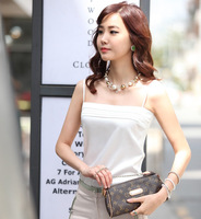 2013 spring and summer spaghetti strap vest basic women's shoulder strap small vest faux silk plus size basic shirt