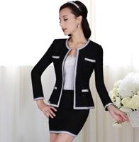 Autumn black silver slim short skirt without outwear fashion skirt 3