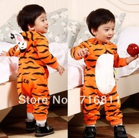 4pcs- Baby Cartoon Long Sleeve Romper, Kids Children Tiger jumpsuit, 837