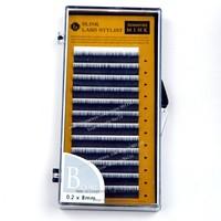 B Curl 0.20 mm * 8 mm One Tray Blink Mink C B curl individual black false eyelash extension Tray lash