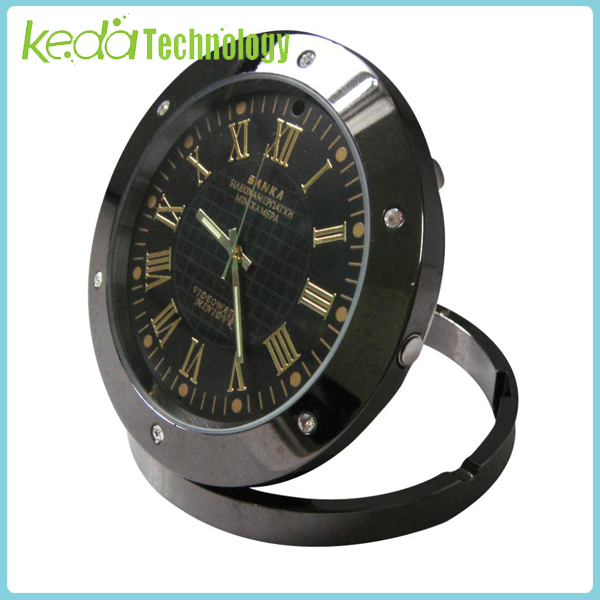 High Definition Detective Table Clock Security Video Camera Webcam DVR Hidden Detection(China (Mainland))