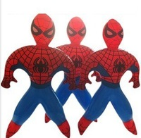 36 PCS Novelty Superman Spider Man PVC Inflatable cartoon toys for children games Kids birthday gifts, air-filled Height 35cm