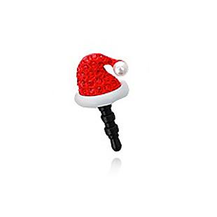 Elisa full rhinestone christmas tree hat gloves snowily boots mobile phone dust plug 01376