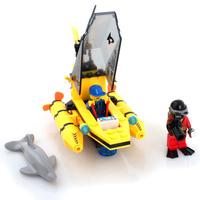 Dolphin observation boat 100 pcs Enlighten 1215 building blocks 3D DIY assembling educational toys birthday gift Free Shipping