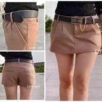 Woolen culottes women's 2013 woolen shorts culottes boot cut jeans female woolen skorts