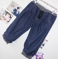 2013 harem pants female knee-length capris pants female jeans plus size shorts capris