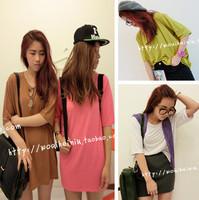Self-restraint modal chromophous basic solid color t-shirt women's basic 209