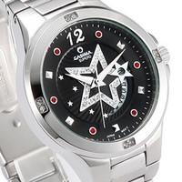 Casima black five-pointed star decorative pattern fashion ladies watch fashion brief table women's watch