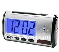 Free shipping Digital Clock Hidden Kamera Camera DVR USB Motion Alarm mini camera