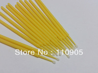 4*100pcs Disposible Eyelash Eye lash Micro Swab Mrico Brush Microfiber Wands Applicators for Eyelash Extension Removal