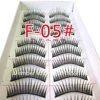 wholesale +hot  ~ F-05 # handmade false eyelashes handmade false eyelashes (10 pairs)