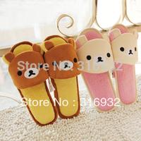 K5 Rilakkuma San-X Cute Plush Cartoon Cute Bear Slippers , 1pair
