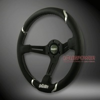 Modified steering wheel scrub genuine leather steering wheel automobile race steering wheel 14 car steering wheel momo