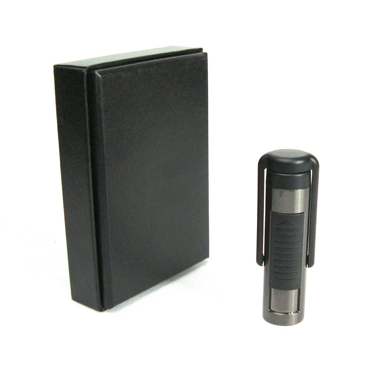 175d charge lighter windproof metal personalized usb electronic cigarette lighter led flashlight(China (Mainland))