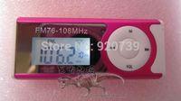 Belt mini charge fm portable radio running sports small radio fm am