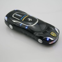 T8 Dual sim camera metal case seven color LED luxury car cell phone
