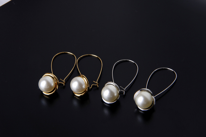 50%off Classic Style Gold / Silver Pearl Charm Drop Earrings Gold Plated Alloy Fashion Women Jewelry Sniwell J700558(China (Mainland))
