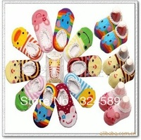 Freeshipping wholesale 20pcs/lot multicolor antiskid lace ship socks socks non-slip floor children stockings baby socks