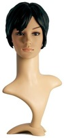 Relistic female PE mannequin head for wig and hat/D8-X