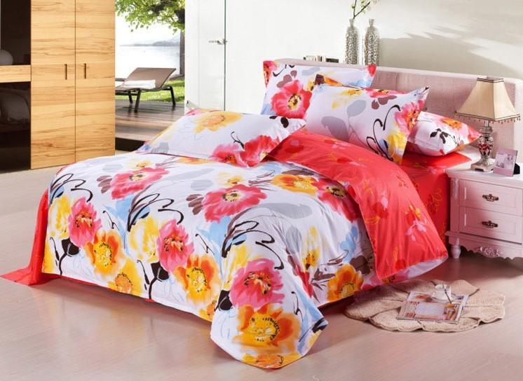 Orange duvet covers promotion online shopping for - Red and orange comforter sets ...