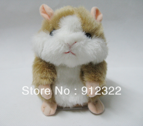 Free shipping 1piece Tomy Mimicry Pet Hamster Talking Plush Toy Talking Animal --Yellow Color Wholesale and Retail(China (Mainland))