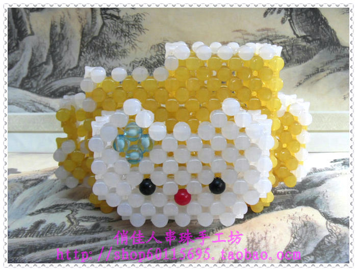 Diy handmade beaded gift decoration beads cat pen finished product student supplies birthday gift(China (Mainland))