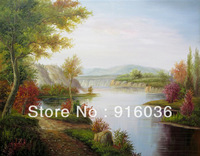 Free shipping Modern Picture Canvas Decorative Art Oil Painting Handmade Paint Drawing Oils Scenery Fresh Landscape pt99