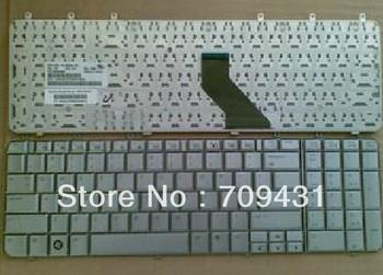 Nearly New Keyboard for HP Pavilion dv7 dv7 - 1000 dv7-1100 Series Silver laptop