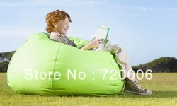 Free shipping lime green sun beanbag lounger, reading bean bag chair, relax bean cushion, high quality and waterproof(China (Mainland))