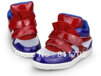 Star, wear-resisting rubber boys girls leather children shoes neutral magic buckle,free shipping