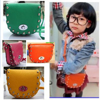Rivet child bags female child bag fashion vintage baby bag messenger bag