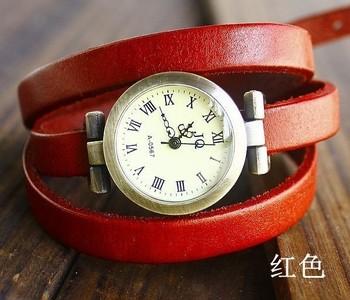 New wholesale vintage Genuine Cow leather fashion Wrap Women watch ladies wrist watch