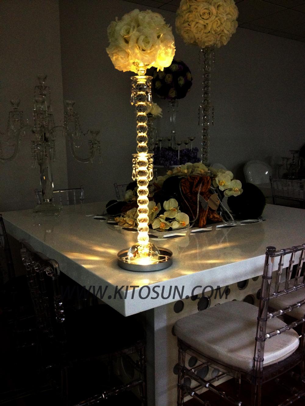 1pcs led rgb 8 round base light wedding centerpiece