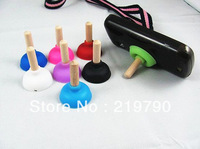Pumping Toilet Sucker Holder Stand Silicon and Wood Plunger for Cell Phone, PSP, Pad, Epad,free shipping  500pcs