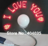 10pcs  USB fan program USB flash word fan, USB fan Programming