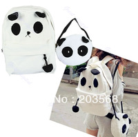 New Hot!!! Lovely Cute Panda Backpack With Little Baby Panda Shoulder Bag