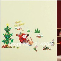 Free shipping parlour bedroom decoration Sofa TV background can remove Wall sticker Father Christmas