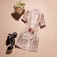 2013 summer organza slim one-piece dress women's