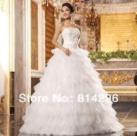 Free     shipping    2013 the new bride wedding dress thousand layer yarn strapless wedding dress to