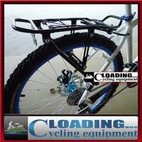 75kg capacity black Cycling Bicycle Bike Carrier Aluminum Alloy disc-brake V-brake Rear Rack Fender Luggage Seatpost Rack