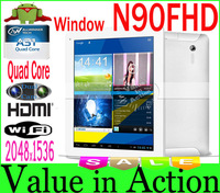 9.7 inch Window N90FHD Quad Core Tablet PC Allwinner A31 Cortex -A7 IPS Capacitive Screen 2048x1536 2G RAM 16G ROM Dual Camera