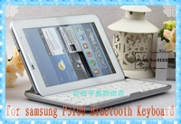 Aluminium Wireless Bluetooth Keyboard for Samsung galaxy tab 2 7.0 p3100 p3110 case retail packaging Free Shipping