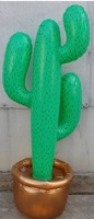 Factory direct sales , PVC inflatable toys , 36 inch Simulation cactus , air-filled plant