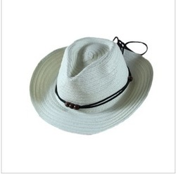 10 pcs Free shipping String string a cowboy hat, cowboy hat summer sun hat boy children/baby hats(China (Mainland))