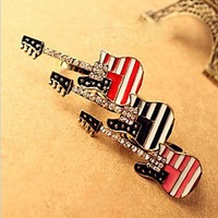 Min Order 15$ Free Shipping Vintage Guitar Rings 2013 For Gift High Quality Wholesale Hot HG0908